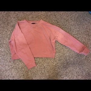 Pink cropped sweatshirt from American Eagle! small